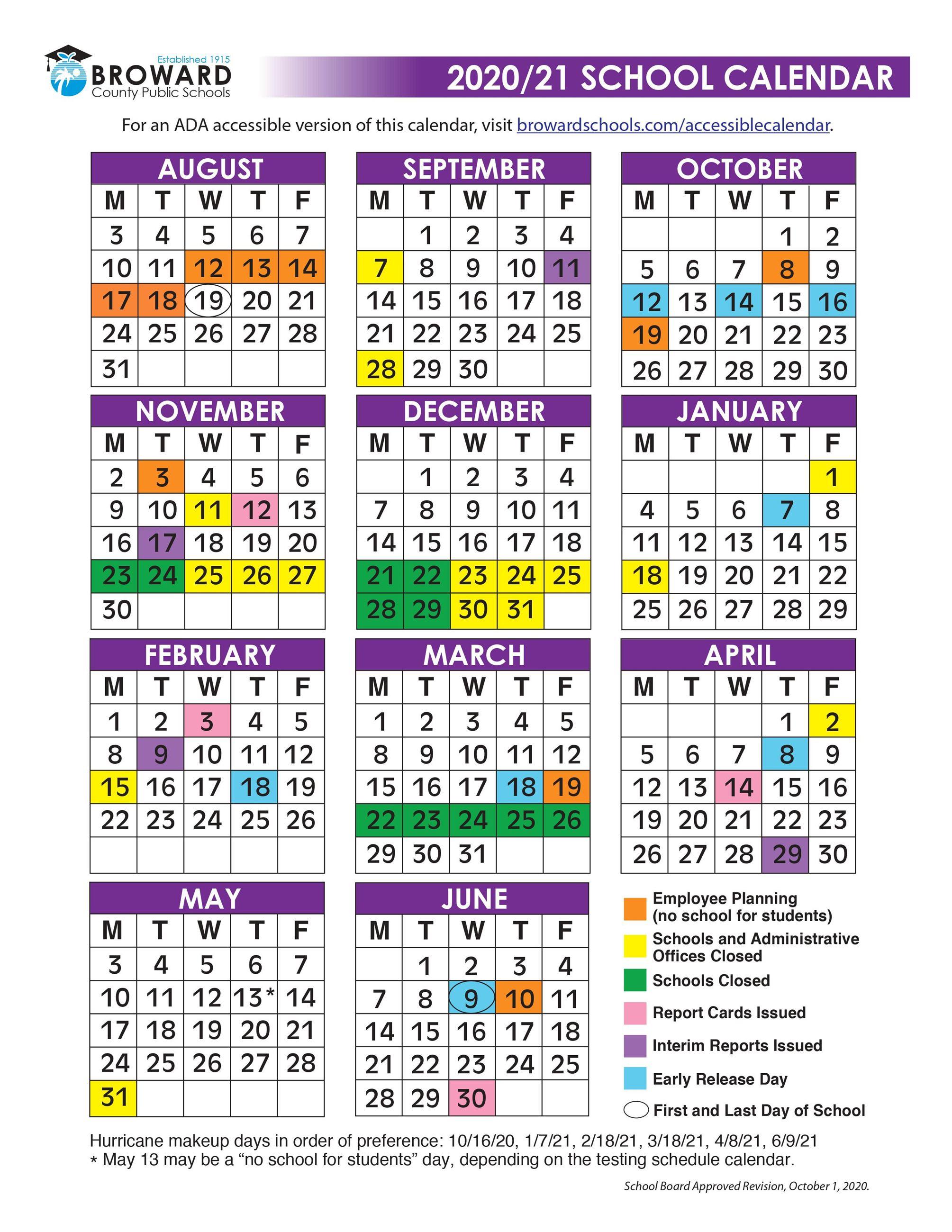 West Point 2021-2022 Calendar PPCS 2020 2021 Calendar | West Elementary and Middle School, FL